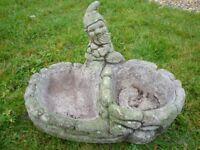 Garden Bird Bath Planter..Gnome
