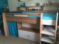 Great Little Trading Company Reece CABIN BED - Beech. Single. With Desk