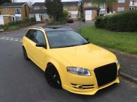 AUDI A4 AVANT ESTATE 2.0 TDI MANUAL STUNNING CAR RS4 YELLOW FSH ONLY 125K