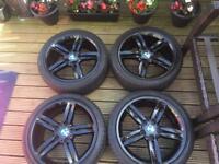 GENUINE BLACK BMW ALLOYS 18 INCH