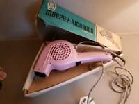 Morphy richards vintage pink hairdryer