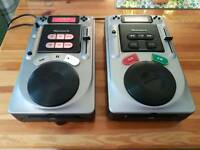 Numark Axis 2 and Axis 4 table top cd turntables