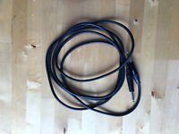 Yellow guitar cable lead 10ft /3m