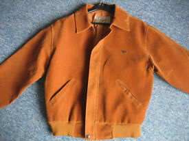 ITALY Vintage Reportage Rga Faux Suede Leather Jacket MADE IN ITALY