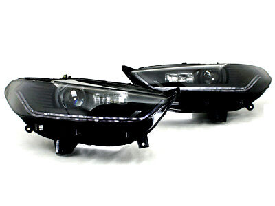 2013-2015 Ford Fusion Mondeo Black Bi-Projector Headlight w/ Sequential -
