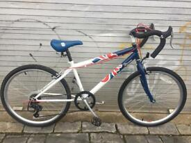 Team GB 24inch wheel racing style kids bike