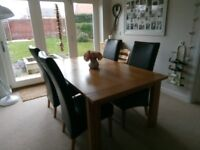 Sonoma extendable dining table and chairs
