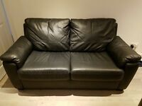 Black leather sofa bed for sale!