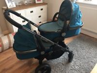 Icandy peach blossom twin carrycots x2