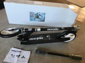 Folding Scooter with Safety helmet Brand new