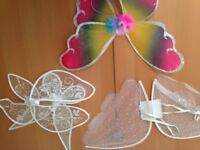 BUTTERFLY Angle Wings Ladies net wings with glitter trim Christmas x3