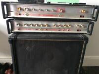 HH electronic v-s bass amp + IC 100L + custom 15 inch cab