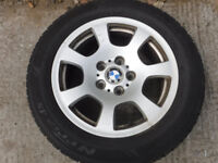 Genuine BMW R16 225 55 alloy wheels with all weather/season tyres from BMW 5 series