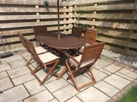 Wooden garden furniture set with 6 chairs