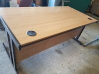 Light oak office desk 1600 mm