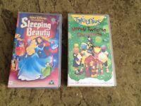 VHS - Sleeping Beauty, Tweenies - just 50p each