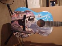 DINOSAURS AWESOME CHILDREN'S 3/4 SIZE CLASSICAL GUITAR SMALL SIZE