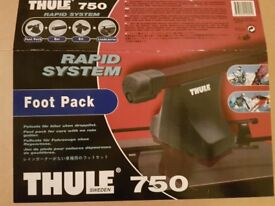 New Thule Car Rack - Thule 750 Footpack & 860 Aero Roof Bars 108cm With Locks