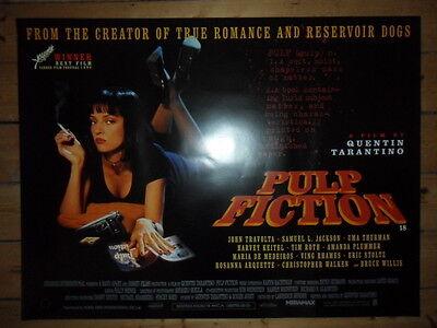 PULP FICTION - Original MINT UK Quad Cinema Poster - QUENTIN TARANTINO - 1994