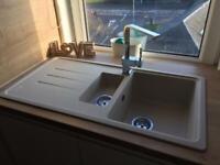 BNIB champagne Carron 1 & 1/2 Debut kitchen sink