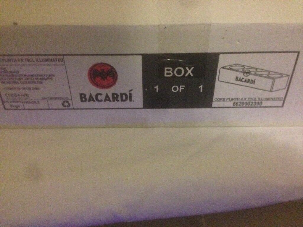 bacardi light up glass holder
