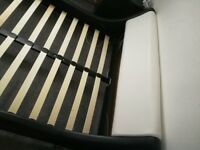 Faux leather small double bed