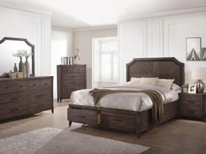 Wooden Queen Bedroom Set - 6 PC  (KA212)