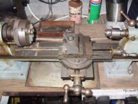 Instrument Lathe with motor and Countershaft.