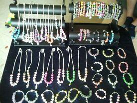pandora/camillia style and leather jewellery