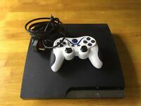 PS3 slim one controller and all leads