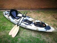 Moken 10 lite kayak with seat and paddle