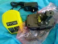 Ryobi 1.3ah LiIon Battery and Charger