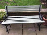 Garden bench cast iron with Wood slates