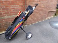 Golf Clubs (two sets) 1 Ladies L/H and one other includes a trolley