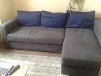 3 seater sofa bed with storage for sale.