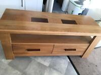 Solid oak TV/ media unit
