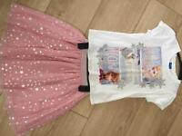 Disney frozen skirt & top age 6/7