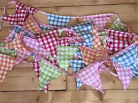 Gorgeous fabric bunting 11m