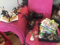 X box 360 with disney infinity bundle and 2 controllers