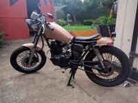 ALMOST FINISHED Bobber/Café Racer Project / Learner Legal 125cc based on Yamaha SR125