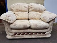 Two seater fabric sofa. FREE delivery in Derby