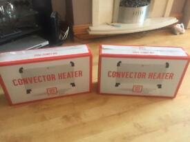 2x convector heaters