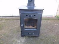 Used Arada Acorn 4F wood burner, burns wood or solid fuel.
