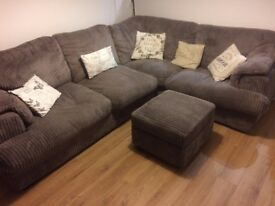Corner Sofa / Sofa Bed with Pouffe from pet & smoke free home
