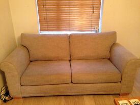 NEXT Toulouse Belgian Soft Twill Sofa (Large) - Dark Natural