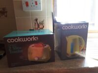 Kettle and toaster, kitchen appliances