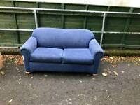Bed sofa in a blue fabric MINT MINT CONDITION