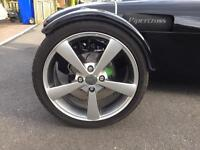 Wolfrace alloy wheels with tyres
