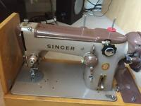 Heavy duty wartime electric Singer sewing machine