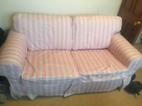 Ikea two seater stripy sofa, in great condition